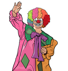 Happy colorful clown vector