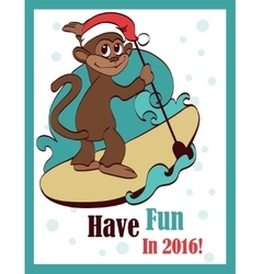 Happy surfing paddleboarding holidays vector