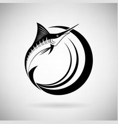 Icon marlin fish vector