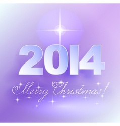 Merry Christmas light background with star vector image