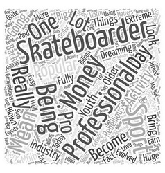 pro skateboarding Word Cloud Concept vector image