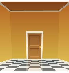 Room door - yellow vector
