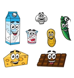 Set of food characters vector