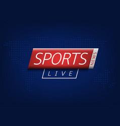Sport news vector