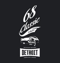 Vintage american vehicle t-shirt logo vector