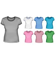 woman shirts vector image vector image