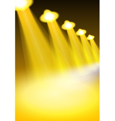 Yellow lights vector image
