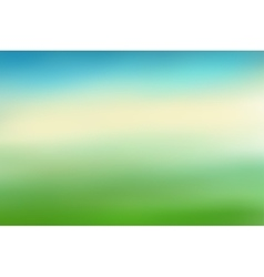 Blue and green blurred background vector image