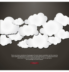 Shape Speech Bubbles Background Social Media vector image
