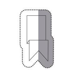 figure sticker ribbon icon vector image