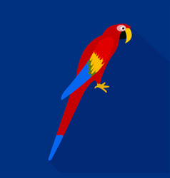 Colorful parrot cartoon flat icon brazil vector
