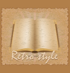 Retro style poster old book vector