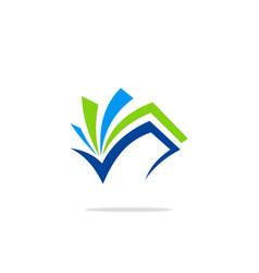 open book document abstract logo vector image