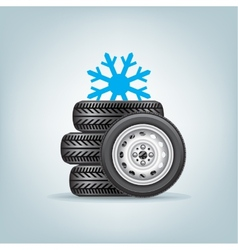 Set of winter wheels vector