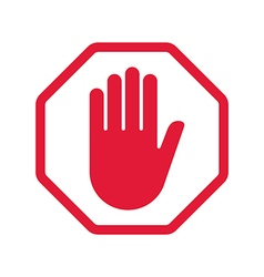 Rad hand blocking sign stop vector