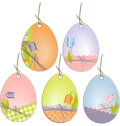 Cute easter scrapbooking tags vector
