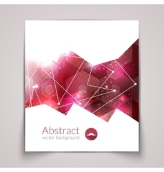 Abstract triangular 3d geometric colorful red vector