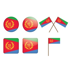 badges with flag of Eritrea vector image vector image