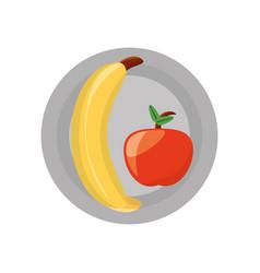 banana sweet fruit vector image