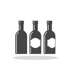 bottle of alcohol flat icon vector image