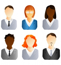 Business people icons vector