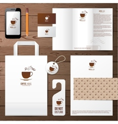 Coffee house identity template vector