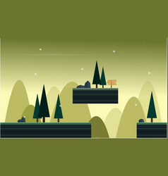 Collection stock game background style scenery vector