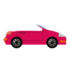 Convertible sport car vector