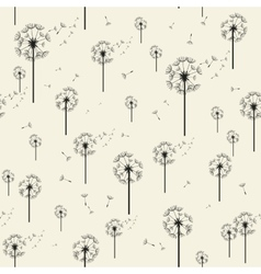 Dandelion Seamless Pattern Modern Texture vector image vector image
