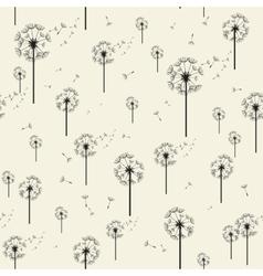 Dandelion Seamless Pattern Modern Texture vector image
