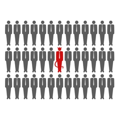 devil crowd vector image vector image