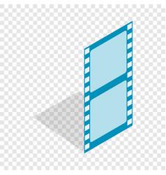Film strip isometric icon vector