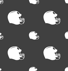 football helmet icon sign Seamless pattern on a vector image vector image