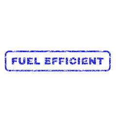 Fuel efficient rubber stamp vector