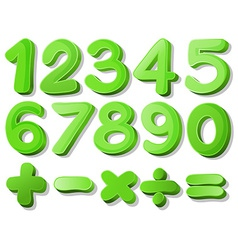 Green numbers vector image