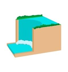 Horseshoe falls niagara canada icon vector