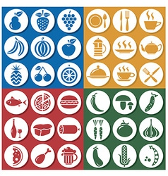 icons food and drink vector image