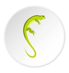 Long iguana icon flat style vector