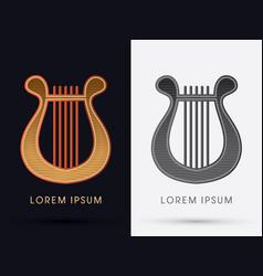 Luxury lyre vector