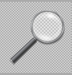 Magnifying glass realistic isolated vector image vector image