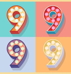 Number 9 vector image