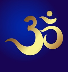 Om or aum indian sacred sound original mantra a vector
