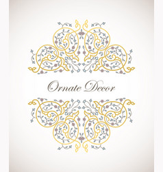 ornamental decorative elemen vector image vector image