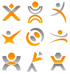 people logo vector image vector image