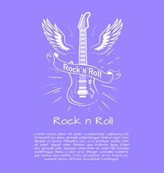 Rock n roll music poster vector