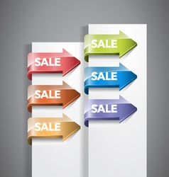 Sale arrow labels vector