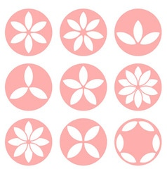 Set of flower logo vector