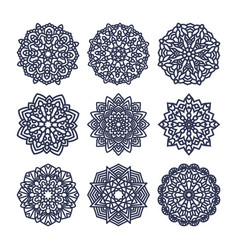 set of mandalas indian wedding meditation vector image vector image
