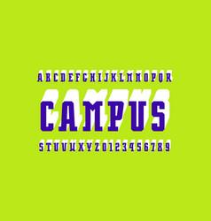 Slab serif bulk font in the sport style vector