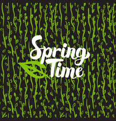 Spring time hand drawn card vector